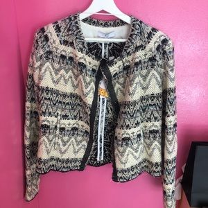 IRO Krue Tweed Jacket size 44 NWT